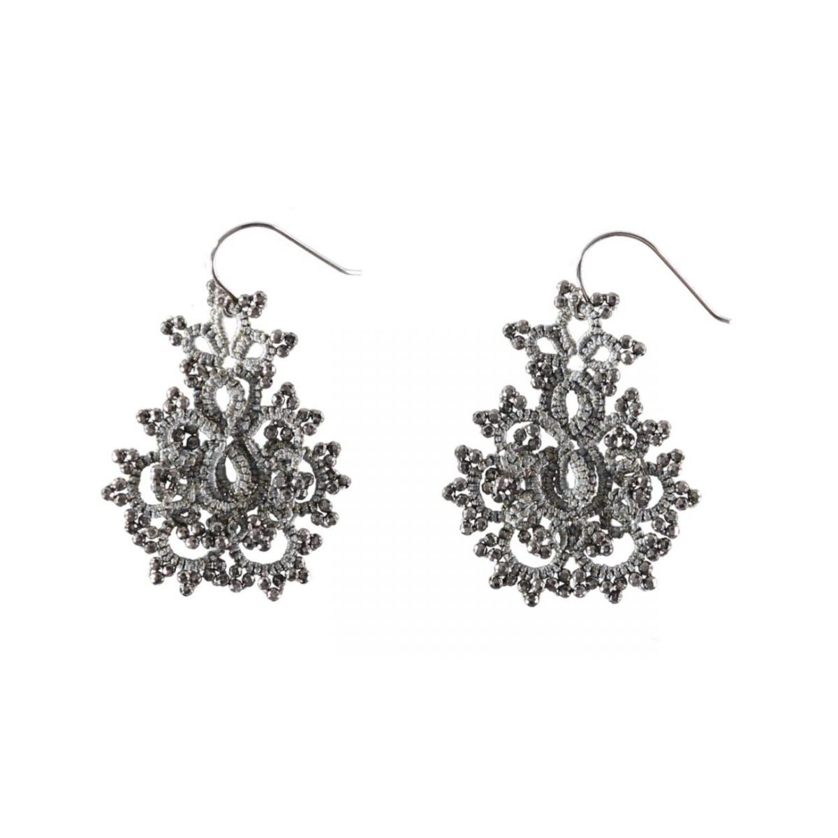 Tereza Earrings Grey Gold
